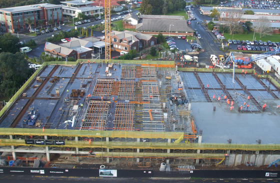 North Shore Carpark – Post Tensioned Slab